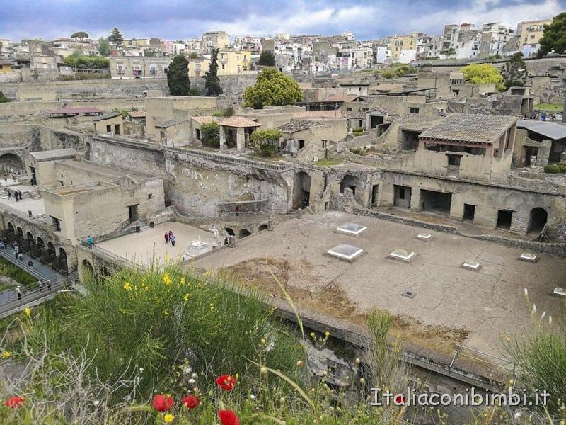 Ercolano - parco archeologico dall'alto
