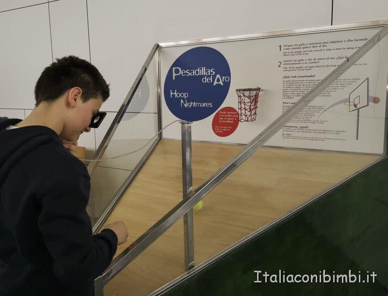 Museo delle scienze di Valencia- giochi effetti ottici