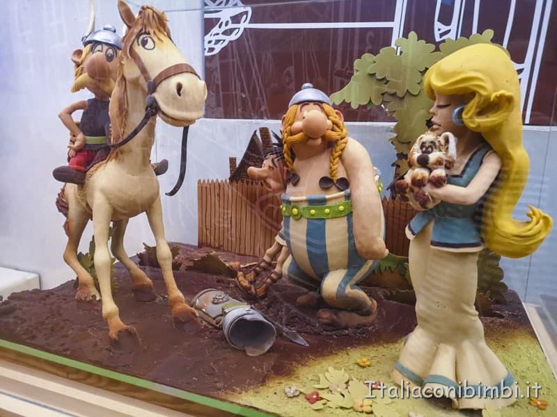 Barcellona Museo della cioccolata - Asterix e Obelix