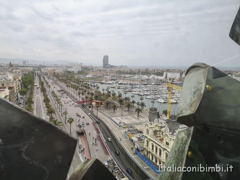 Barcellona - vista dal monumento a Colombo.