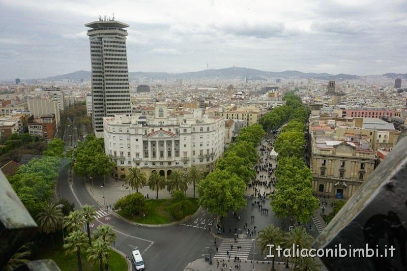 Barcellona - vista dal monumento a Colombo