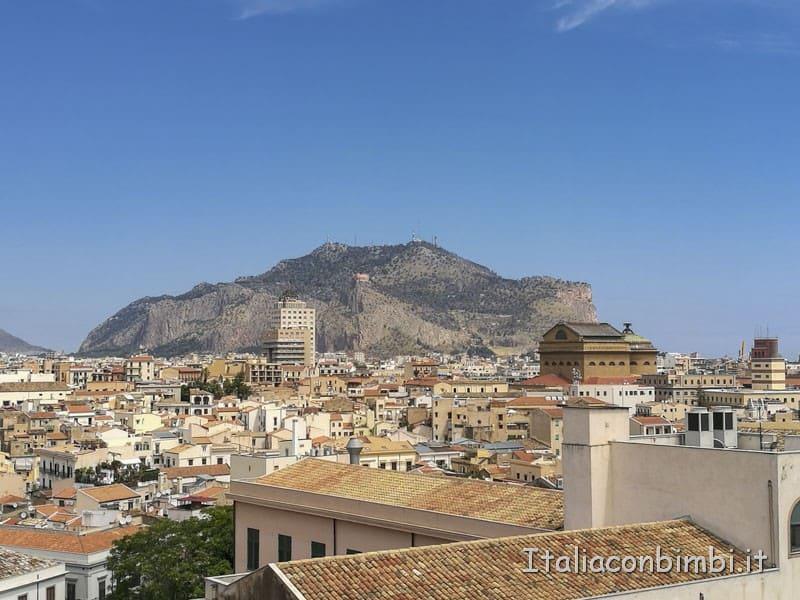 Palermo-vista-sul-Monte-Pellegrino-dal-tetto-della-cattedrale