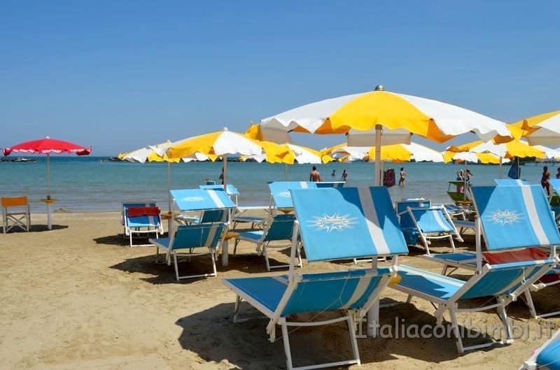 spiaggia di Gatteo Mare - ombrellone