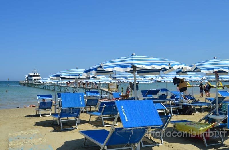 spiaggia di Gatteo Mare - ombrelloni