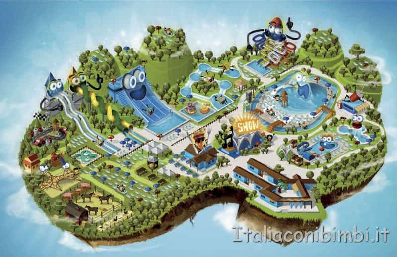 Aqualand di Vasto - mappa del parco