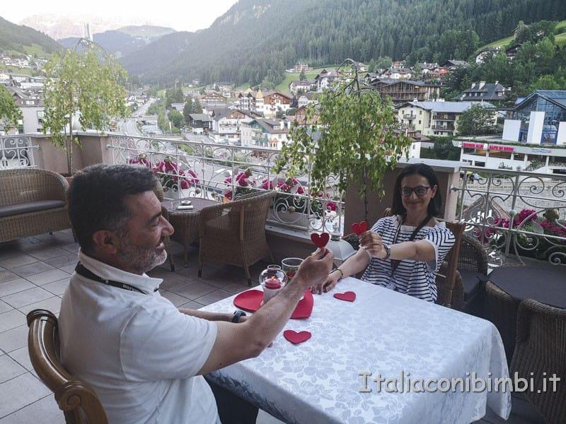 Cavallino Bianco - noi a cena in terrazza