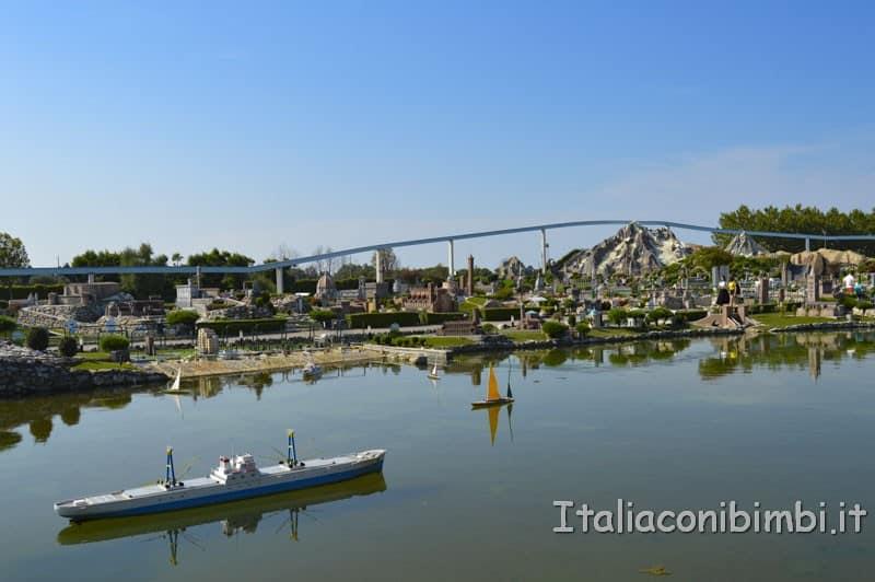 Italia in miniatura - laghetti e paesaggi italiani