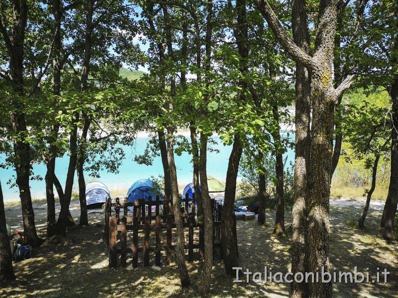Lago di Fiastra - tende