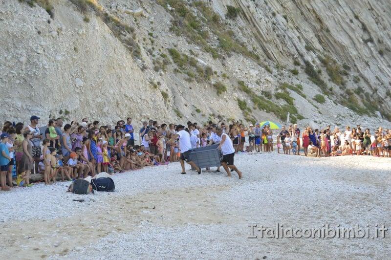 Rilascio della tartaruga spiaggia delle due sorelle - tartaruga sulla spiaggia