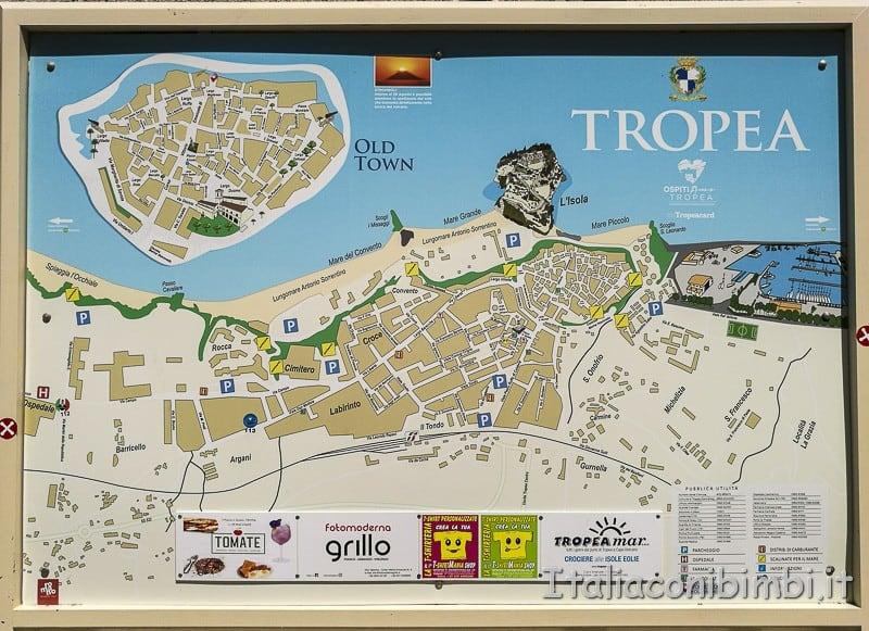 Tropea- mappa