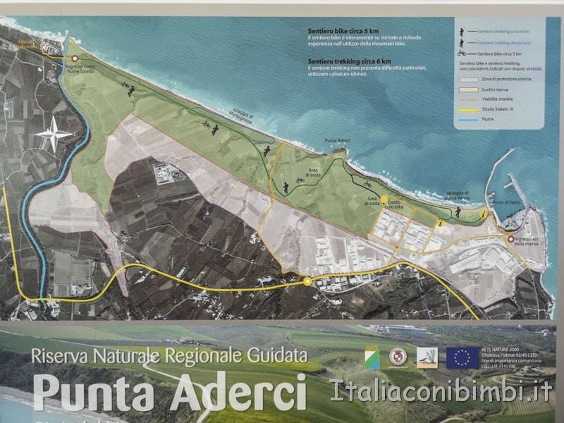 Vasto - mappa della riserva naturale di Punta Aderci