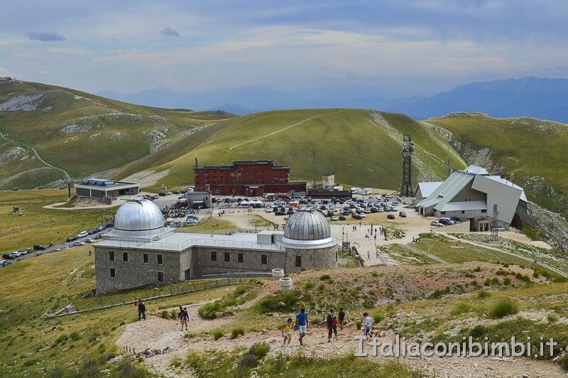 Campo Imperatore - albergo, arrivo funivia, osservatorio astronomico