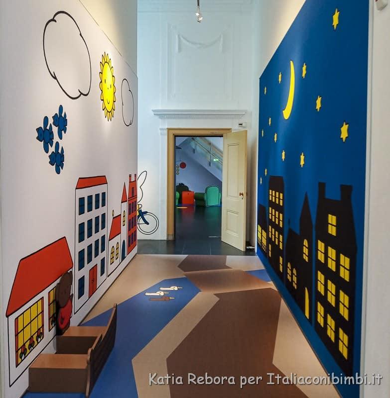 Utrecht- pareti dipinte del Miffy Museum