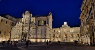 Duomo di Lecce di sera