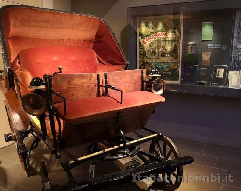 Giardini Trauttmansdorff di Merano - carrozza nel museo del turismo
