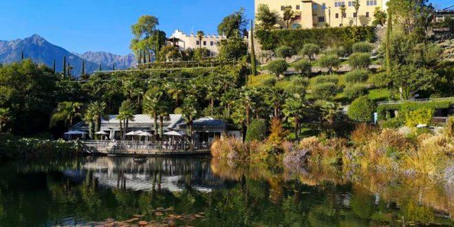 Giardini Trauttmansdorff di Merano - laghetto e castello