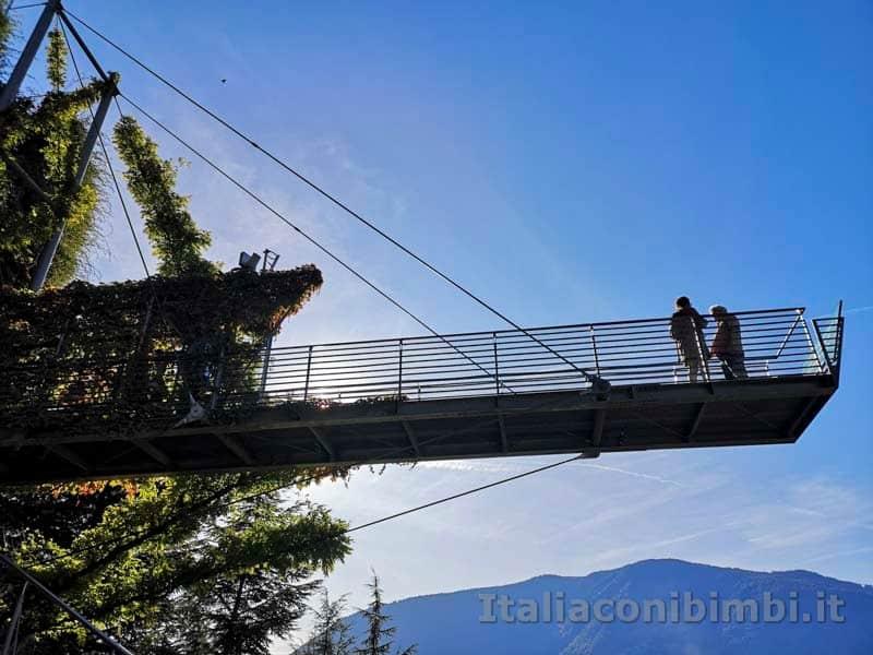 Giardini Trauttmansdorff di Merano - ponte sospeso panoramico