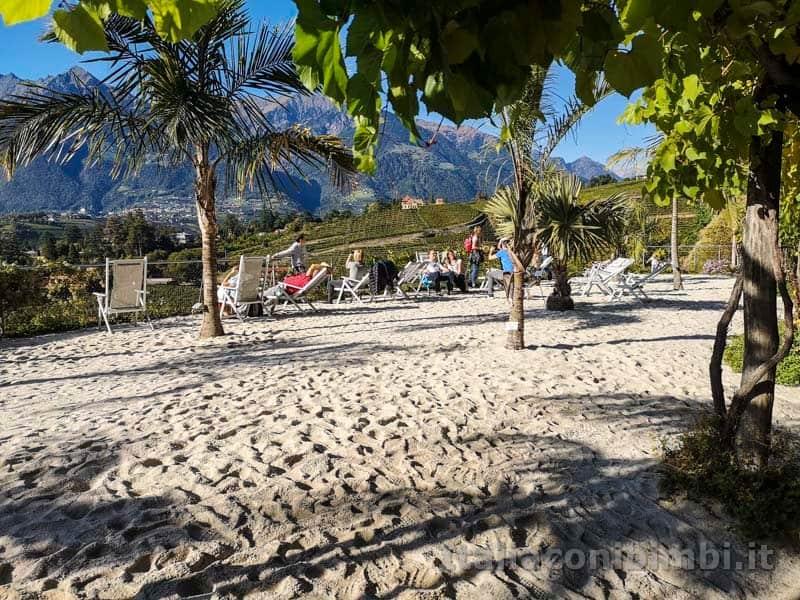 Giardini Trauttmansdorff di Merano - spiaggia di sabbia