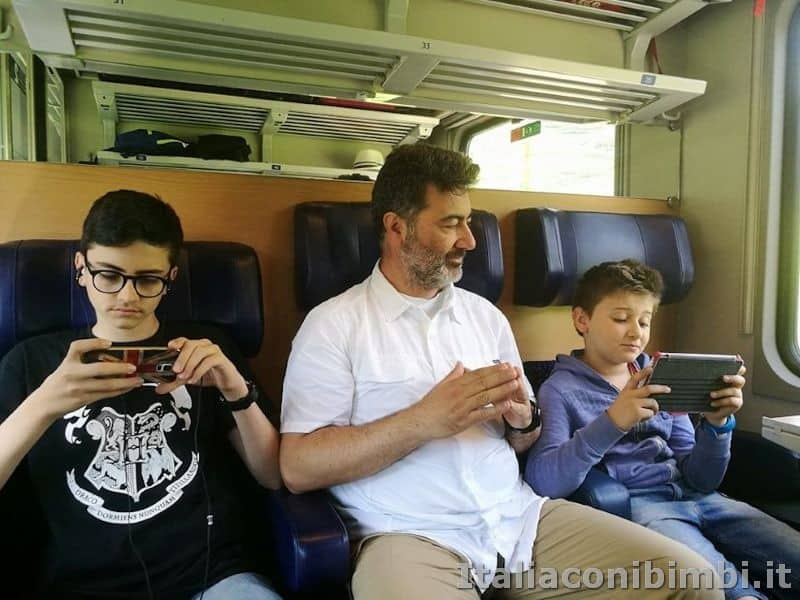 Interrail per famiglie - ragazzi in treno