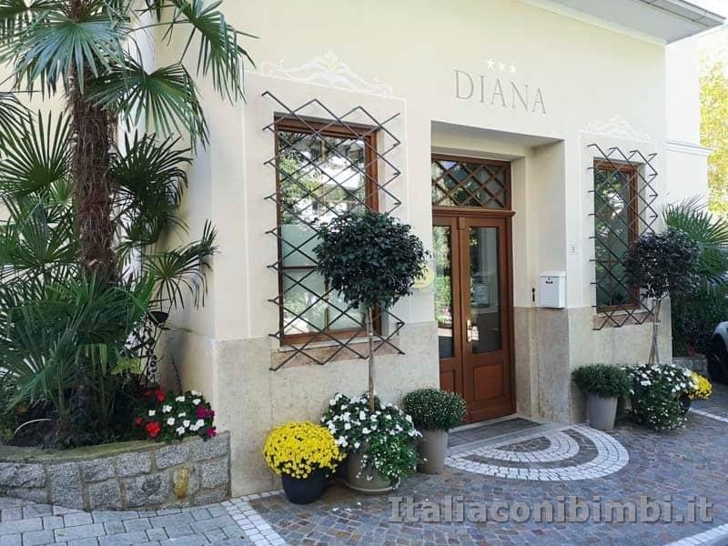 Merano- ingresso del Residence Diana