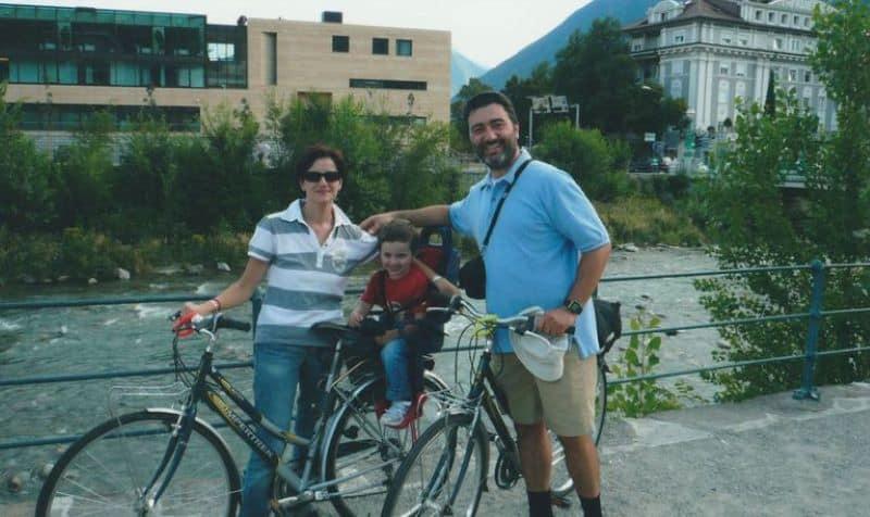 Partenza ciclabile della Val Venosta a Merano