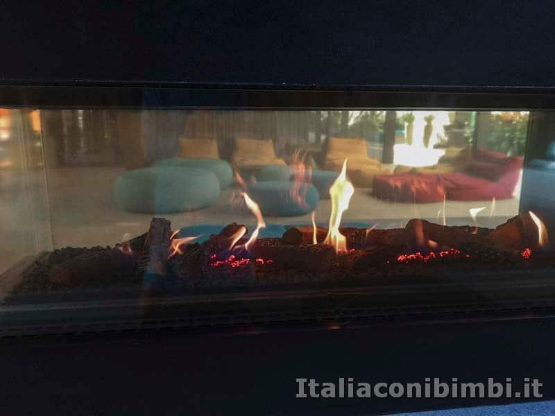 Terme di Merano - area relax fuoco