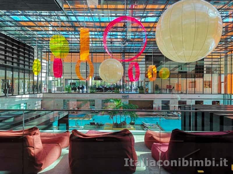 Terme di Merano - piscine viste dalla sala relax