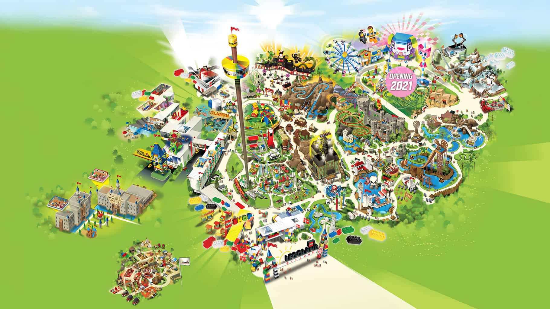 mappa del parco Legoland Billund