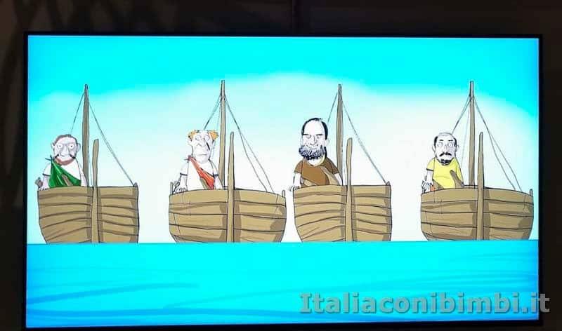 Museo delle navi di Pisa - cartone animato sulle navi