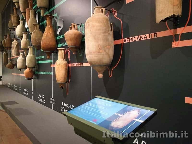 Museo-delle-navi-di-Pisa-pareti-di-anfore
