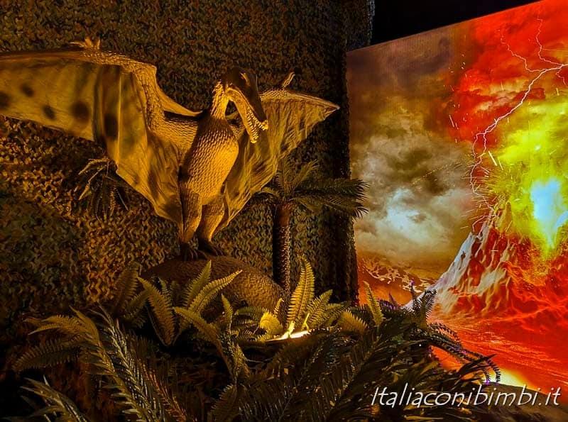 Living Dinosaurs Mostra dei dinosauri Roma - dinosauro e vulcani