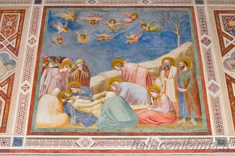 Padova - cappella degli Scrovegni dipinto