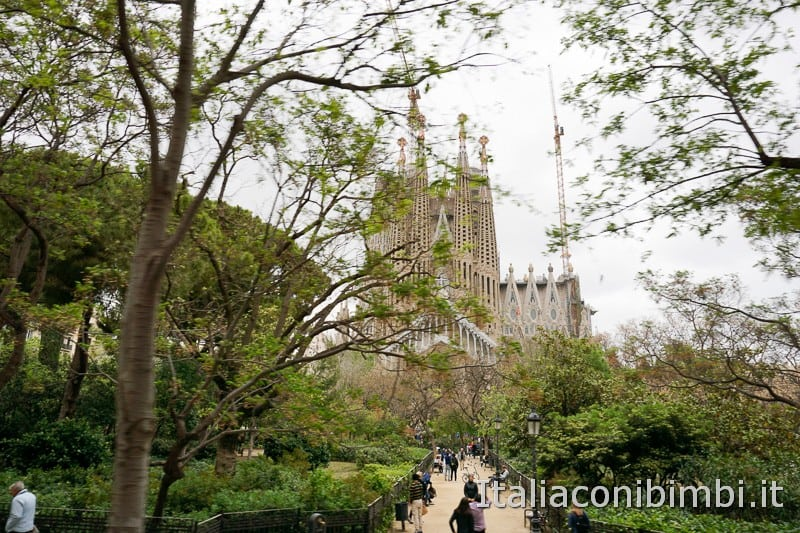 Sagrada Familia - dal parco