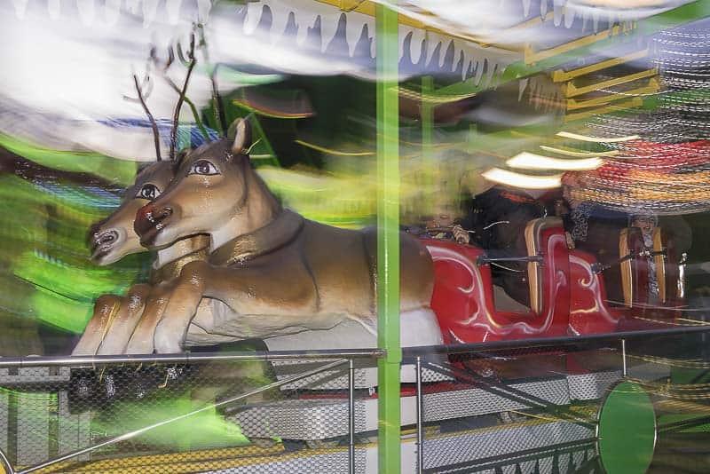 Villaggio di Natale di Finale Ligure - ottovolante con le renne