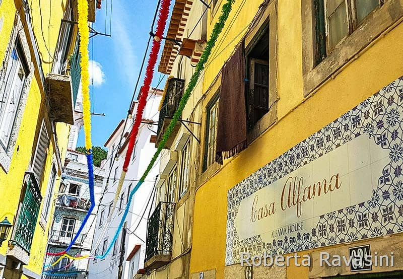 Quartiere di Alfama a Lisbona