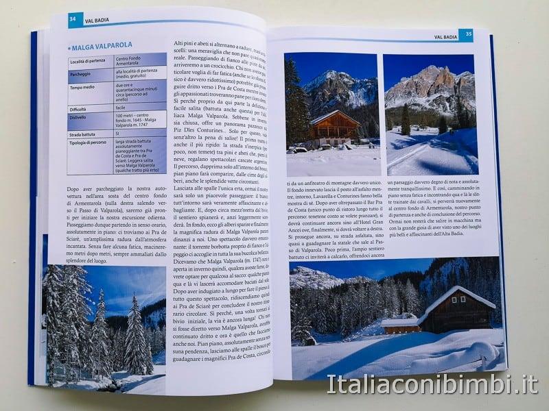 Babytrekking sulla neve - paragrafo Val Badia