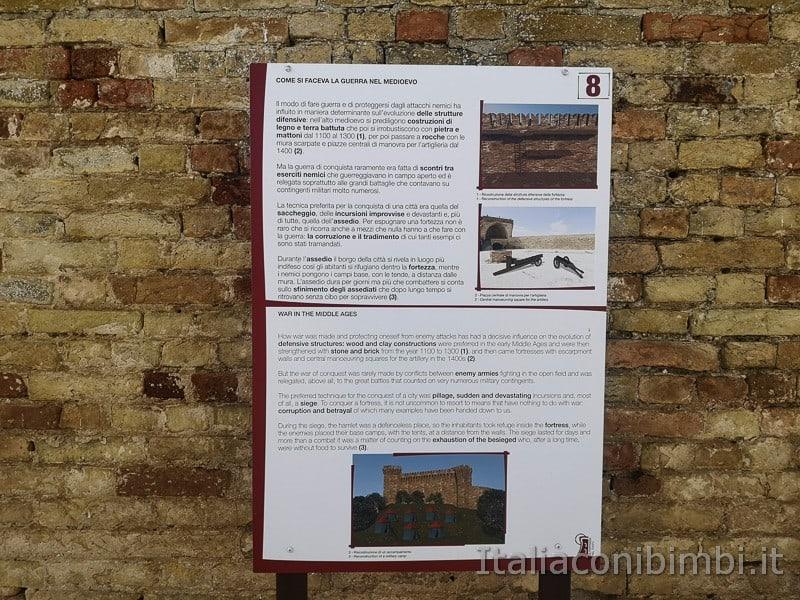 Acquaviva Picena - pannelli esplicativi nella fortezza