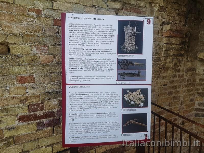 Acquaviva Picena - pannelli esplicativi nella rocca