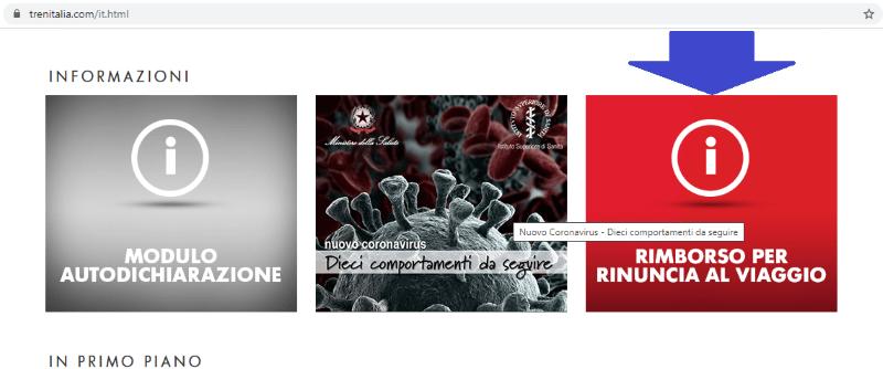 home page Trenitalia