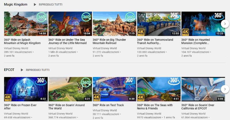 Canale Youtube Disneyland tour