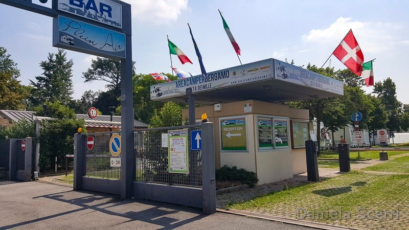 Bergamo - Area di sosta città dei mille