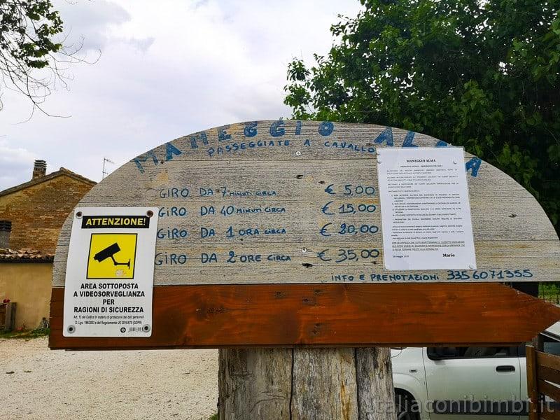 Abbadia di Fiastra- prezzi del maneggio Alba