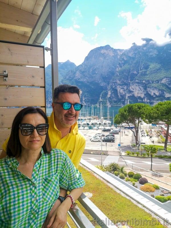 Residence Centro Vela di Riva del Garda- noi sul terrazzo
