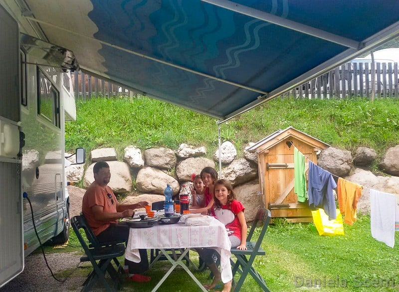 Trentino in camper- Piazzola del Camping Vidor