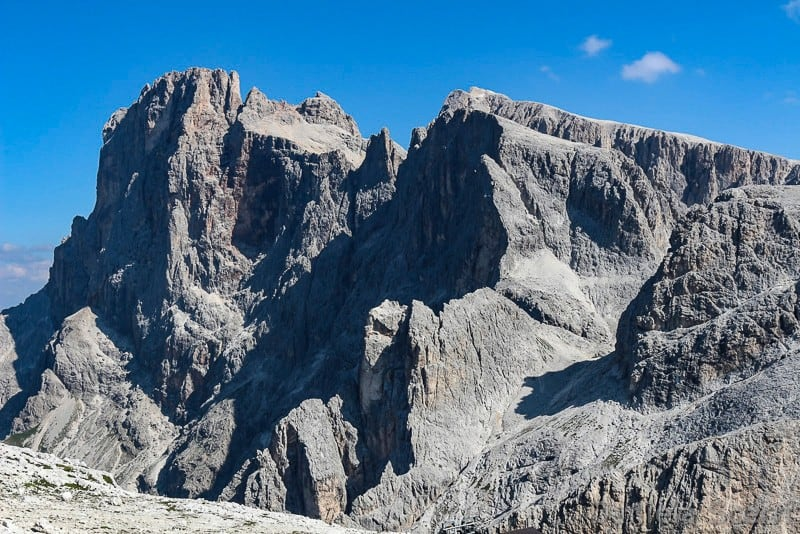 Trentino in camper- paesaggio lunare Cima Rosetta