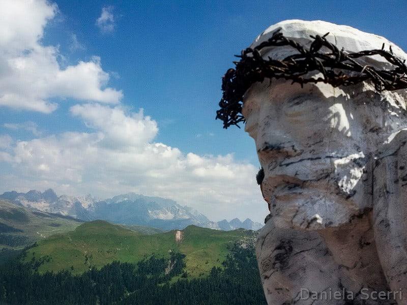 Trentino in camper- trekking Cristo pensante