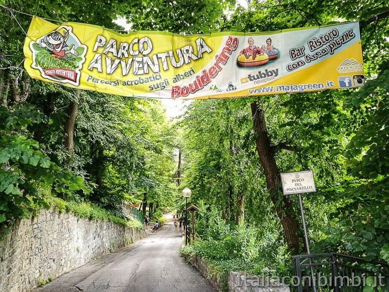 Caramanico - insegna del parco avventura