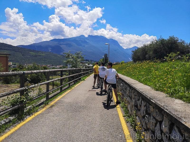 Ciclabile Arco - Riva- in bicicletta al ritorno