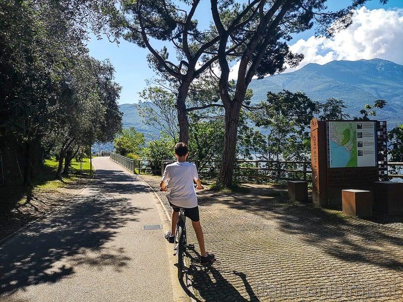 Ciclabile Riva - Torbole- primo tratto a Riva del Garda