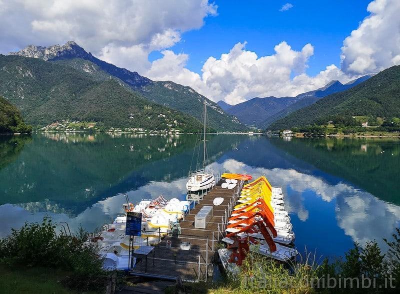 Lago di Ledro- pattini e barche